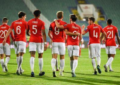 England v Bulgaria team